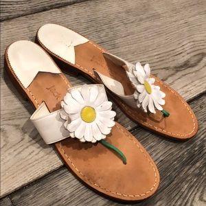 Jack Rogers white daisy sandals 9m
